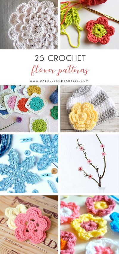 Check this list of easy crochet patterns that is full of simple flowers and even has a crochet rose pattern. All the warmth of spring at your fingertips. #flowerpattern #crochetflower #easycrochetpatterns #crochetideas