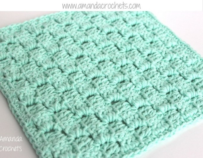 C2C Dishcloth - This list of C2C crochet patterns will allow you make things you never dreamed of. Your friends will be impressed by your talent and you can make them gifts they could never buy in stores. #C2CCrochet #CornerToCornerCrochet #CrochetPatterns