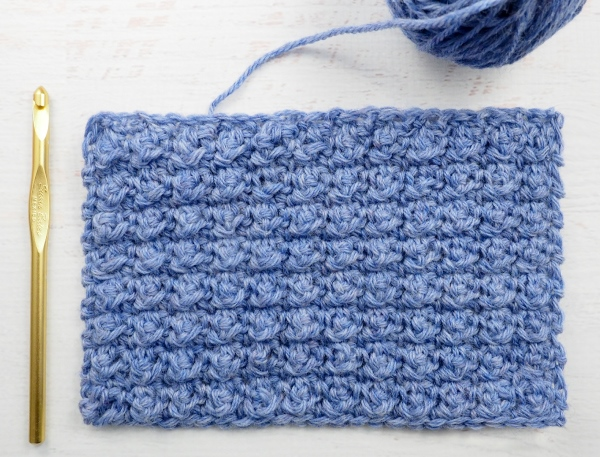 Aligned Cobble Stitch - These different basic crochet stitches are the fundamentals to becoming an inventive crocheter. You could use these crochet stitches for blankets or a multitude of other projects. #SingleCrochetStitch #TunisianCrochet #BasicCrrochetStitches