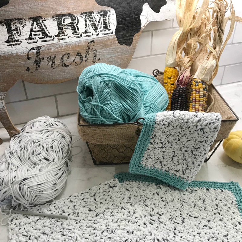 Rustic Farmhouse Dishcloth - One of the most challenging parts about crochet is finding the right crochet pattern. This list of free crochet patterns will guide you in the right direction. #CrochetPattern #CrochetAddict #FreeCrochetPatterns