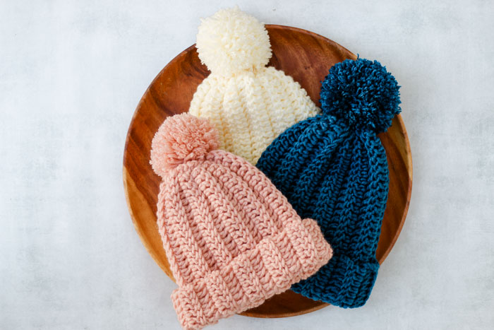 1.5 HOUR BEANIE - One of the most challenging parts about crochet is finding the right crochet pattern. This list of free crochet patterns will guide you in the right direction. #CrochetPattern #CrochetAddict #FreeCrochetPatterns