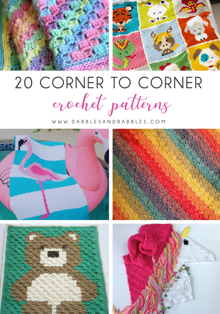 This list of C2C crochet patterns will allow you make things you never dreamed of. Your friends will be impressed by your talent and you can make them gifts they could never buy in stores. #C2CCrochet #CornerToCornerCrochet #CrochetPatterns