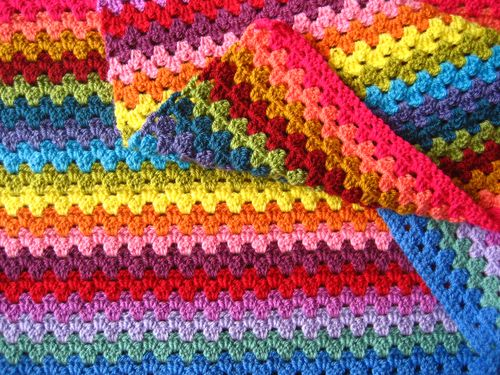 Granny Stripe Stitch - These different basic crochet stitches are the fundamentals to becoming an inventive crocheter. You could use these crochet stitches for blankets or a multitude of other projects. #SingleCrochetStitch #TunisianCrochet #BasicCrrochetStitches