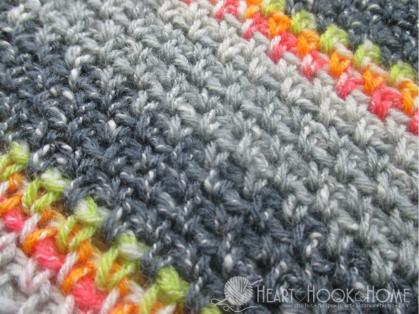 Moss / Granite  Stitch - These different basic crochet stitches are the fundamentals to becoming an inventive crocheter. You could use these crochet stitches for blankets or a multitude of other projects. #SingleCrochetStitch #TunisianCrochet #BasicCrrochetStitches