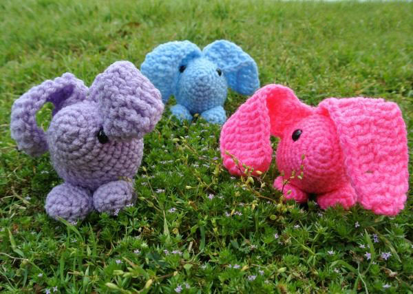 Baby Bunny Amigurumi - These free amigurumi patterns and crochet toys are so fun, it will make you want to be a kid again. These cute patterns are imaginative and sweet. #AmigurumiPatterns #CrochetPatterns #FreeCrochetPatterns