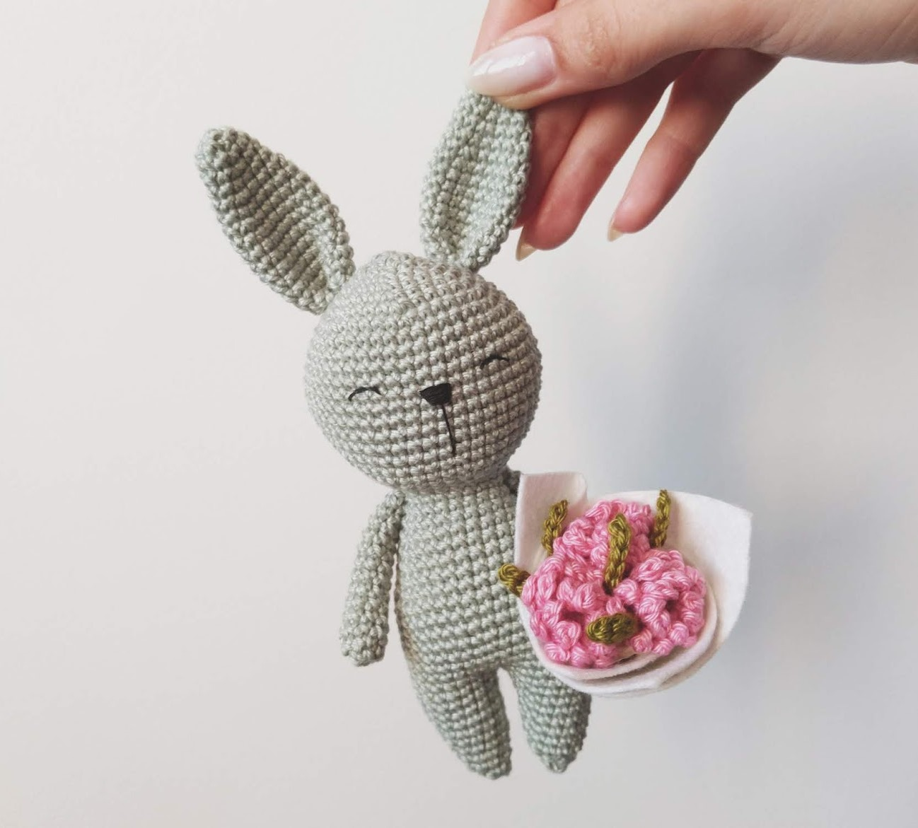 Little Crochet Bunny - These free amigurumi patterns and crochet toys are so fun, it will make you want to be a kid again. These cute patterns are imaginative and sweet. #AmigurumiPatterns #CrochetPatterns #FreeCrochetPatterns