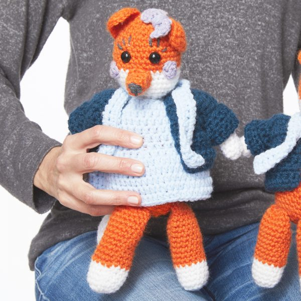 Mrs Fox Toy - These free amigurumi patterns and crochet toys are so fun, it will make you want to be a kid again. These cute patterns are imaginative and sweet. #AmigurumiPatterns #CrochetPatterns #FreeCrochetPatterns