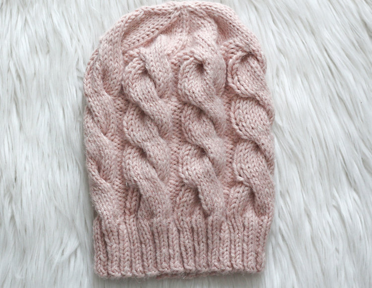 Berk Beanie - We've gathered here 10 of the easiest patterns for first-time knitters to tackle that most fascinating of knitting wonders - cables! #cableknitting #cableknits #knittingpatterns