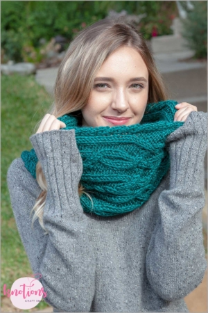 Celtic Cables Cowl - We've gathered here 10 of the easiest patterns for first-time knitters to tackle that most fascinating of knitting wonders - cables! #cableknitting #cableknits #knittingpatterns