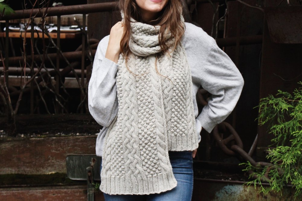 Cedar Hill Scarf - We've gathered here 21 cozy scarf knitting patterns that you can knit quickly, just in time for fall and impending winter. #ScarfKnittingPatterns #KnittingPatterns #ScarfPatterns