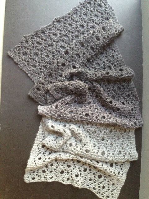 Reversible Circles of Lace - We've gathered here 21 cozy scarf knitting patterns that you can knit quickly, just in time for fall and impending winter. #ScarfKnittingPatterns #KnittingPatterns #ScarfPatterns