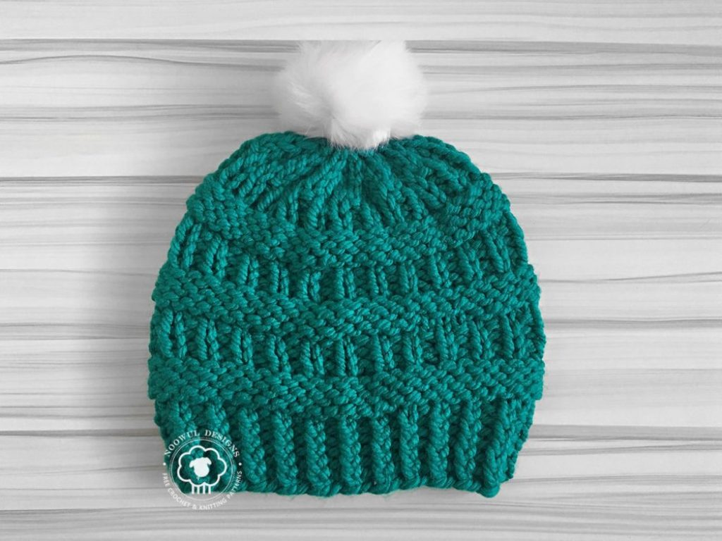 Cole Hat - From casual to designer styled hats, these free knit hat patterns on circular needles are sure to be your new favorite projects to work on! #freeknithatpatterns #knithatpatterns #knitpatterns