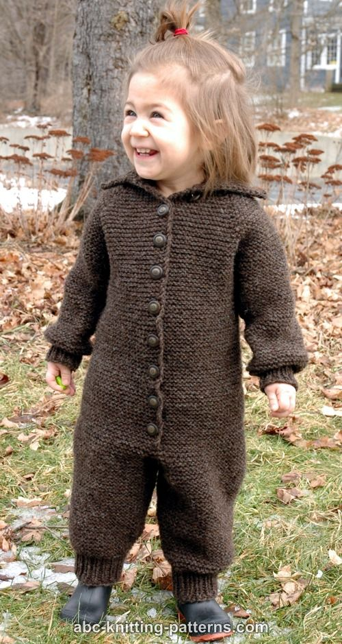Blizzard Proof Knit Baby Romper - These 27 knitting patterns for babies range from diaper covers, booties, blankets, to hats and headbands. #knittingpatterns #babyknittingpatterns #adorableknittingpatterns