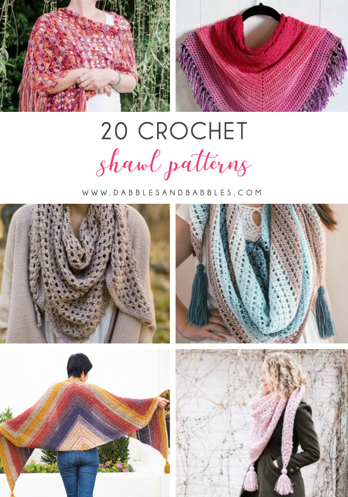 This list of 20 free crochet shawl patterns has plenty of choice for everyone, beginners and skilled crocheters alike.